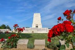 Gallipoli Turcja, Maj 26,/, 2019/Samotny Sosnowy cmentarz jest wspólnota narodów grób prowizji Wojennym cmentarzem Ja jest upamię obraz royalty free