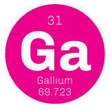 Gallium chemical element Stock Photography