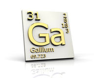 Gallium form Periodic Table of Elements Royalty Free Stock Photos