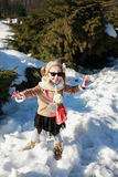 Gallivant girl playing in snow Stock Image