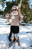 Gallivant girl posing in snow Royalty Free Stock Image