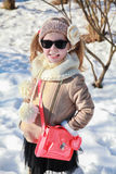 Gallivant girl in snow Stock Images