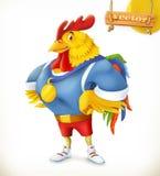 Gallo Animale 2017 Atleta del campione personaggio dei cartoni animati di vettore 3d royalty illustrazione gratis