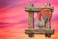 Gallo ardiente rojo Foto de archivo libre de regalías
