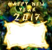 Gallo chino 2017 nuevo Year& x27; fondo del diseño de s Foto de archivo libre de regalías
