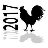 Gallo cinese 2017 di simbolo del nuovo anno royalty illustrazione gratis