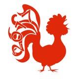 Gallo cinese 2017 di simbolo del nuovo anno illustrazione vettoriale