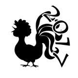 Gallo cinese 2017 di simbolo del nuovo anno illustrazione di stock