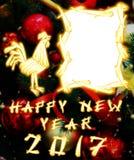 Gallo cinese 2017 nuovo Year& x27; fondo di progettazione di s Fotografie Stock Libere da Diritti