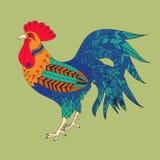 Gallo a colori Fotografia Stock