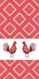 Gallo D del bordado Imagen de archivo