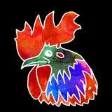 Gallo de la acuarela Imagen de archivo