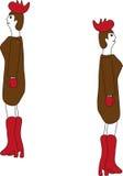 Gallo de las mujeres stock de ilustración