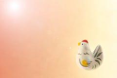 Gallo del Año Nuevo y fondo japoneses de la luz del sol Fotografía de archivo
