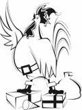 Gallo del Babbo Natale Immagine Stock