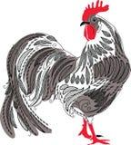 Gallo del dibujo de la mano del cordón Imagen de archivo libre de regalías