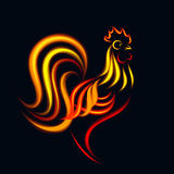 Gallo del fuoco Fotografie Stock