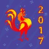 Gallo del gallo, símbolo de 2017 en el calendario chino Foto de archivo