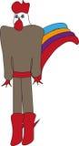 Gallo del hombre stock de ilustración