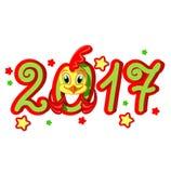 Gallo del nuovo anno Illustrazione Vettoriale