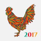 Gallo del ornamento del vector Foto de archivo libre de regalías