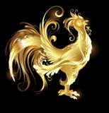 Gallo del oro stock de ilustración