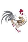 Gallo del pennello Fotografia Stock