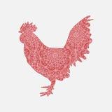 Gallo del rojo del vector Imagen de archivo