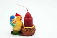 Gallo della figurina Fotografie Stock