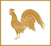 Gallo dorato isolato su fondo bianco royalty illustrazione gratis