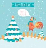 Gallo en la cerca Foto de archivo libre de regalías