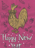 Gallo estilizado en un fondo ligero ejemplo de, símbolo 2017 el calendario chino Elemento para el ` s del Año Nuevo fotos de archivo