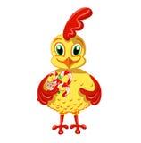 Gallo felice con un'bracciata della caramella Royalty Illustrazione gratis
