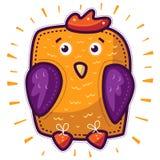 Gallo giallo del pollo Fotografia Stock