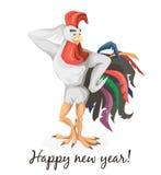 Gallo il simbolo del nuovo anno Fotografie Stock