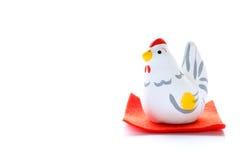 Gallo japonés del Año Nuevo aislado Fotos de archivo libres de regalías
