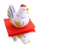 Gallo japonés del Año Nuevo en fondo de la reflexión Imagenes de archivo