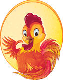 Gallo lindo del fuego rojo por el Año Nuevo chino Stock de ilustración