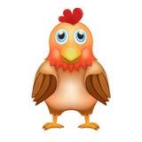 Gallo marrone-rosso sveglio nella vista frontale illustrazione di stock