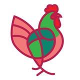 Gallo modelado del vector ilustración del vector