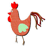 Gallo modelado en un fondo blanco Ejemplo divertido de un si libre illustration