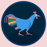Gallo nel cerchio Fotografia Stock Libera da Diritti