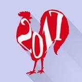 Gallo ornamentale disegnato a mano di stile Grande per la stampa, progettazione di feste Fotografie Stock Libere da Diritti