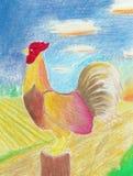 Gallo piega rosso illustrazione vettoriale