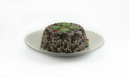 Gallo Pinto. Costa Rican breakfast made of rice and beans stock photography