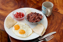 Gallo pinto, traditional dish of Nicaragua and Costa Rica. Central America stock photography