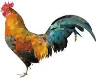 Gallo plano del gallo del estilo del diseño fotografía de archivo libre de regalías