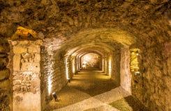 Gallo-römisches horreum in Narbonne stockfotos