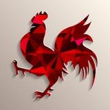 Gallo rojo como símbolo de 2017 Fotografía de archivo