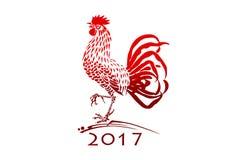 Gallo rojo de la Navidad Foto de archivo libre de regalías